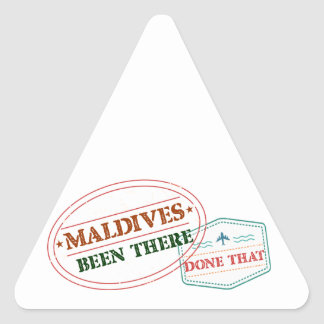 Adesivo Triangular Maldives feito lá isso