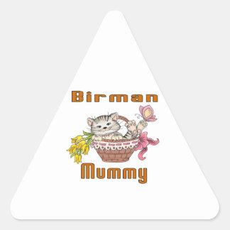 Adesivo Triangular Mamã do gato de Birman