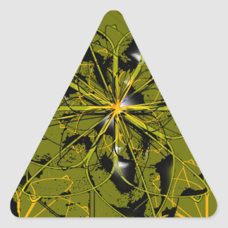 Adesivo Triangular Manchas douradas do abstrato das pétalas