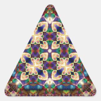 Adesivo Triangular Mandala celta do vitral do coração do arco-íris