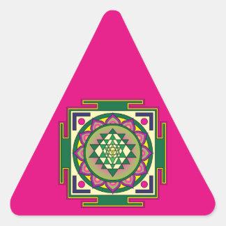 Adesivo Triangular Mandala de Sri Yantra