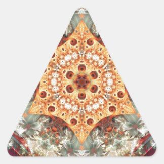 Adesivo Triangular Mandalas do coração da liberdade 24 presentes