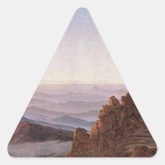 Adesivo Triangular Manhã em Riesengebirge - Caspar David Friedrich