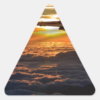 Adesivo Triangular Manobra do por do sol do bombardeiro de Vulcan