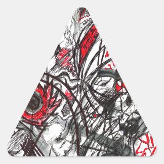 Adesivo Triangular Mãos do desenho da caneta da raiva