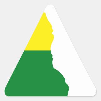 Adesivo Triangular Mapa da bandeira de Delaware LGBT