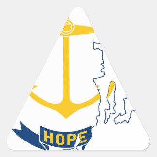 Adesivo Triangular Mapa de Rhode - ilha da bandeira