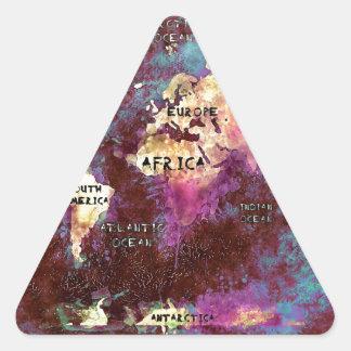 Adesivo Triangular mapa do mundo