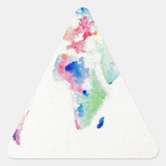 Adesivo Triangular mapa do mundo da cor de água