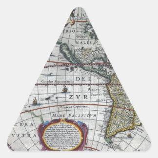 Adesivo Triangular mapa velho Americas