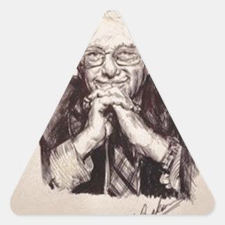 Adesivo Triangular Máquinas de lixar de Bernie por Billy Jackson
