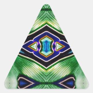 Adesivo Triangular Máscaras ricas bonito da lavanda azul verde