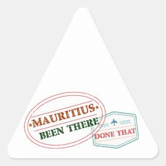 Adesivo Triangular Maurícia feito lá isso