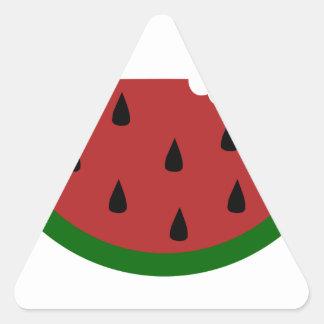 Adesivo Triangular melancia mordida fruta da fatia da comida