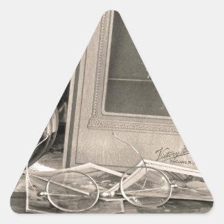 Adesivo Triangular Memórias do vintage