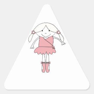 Adesivo Triangular Menina da bailarina