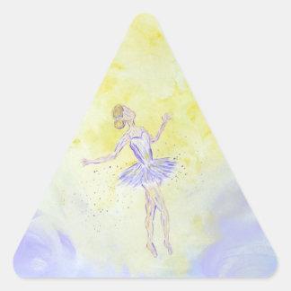 Adesivo Triangular Menina de dança