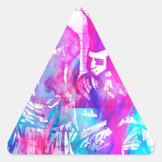 Adesivo Triangular Menina do gótico do algodão doce e gajo do punk