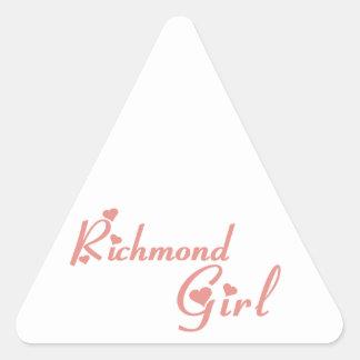 Adesivo Triangular Menina do monte de Richmond
