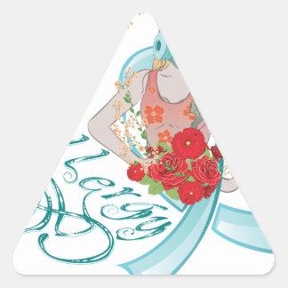 Adesivo Triangular Menina em Gasmask Allergy2