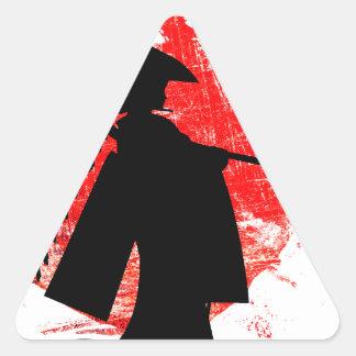 Adesivo Triangular Menina japonesa