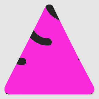 Adesivo Triangular Merda Fluorescente