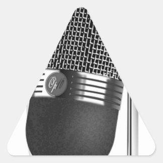 Adesivo Triangular Microfone clássico