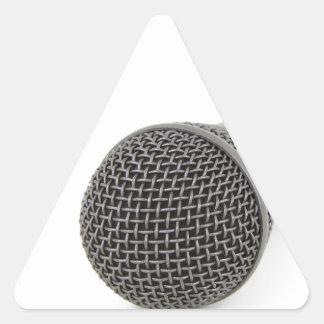 Adesivo Triangular Microfone - conversa a mim