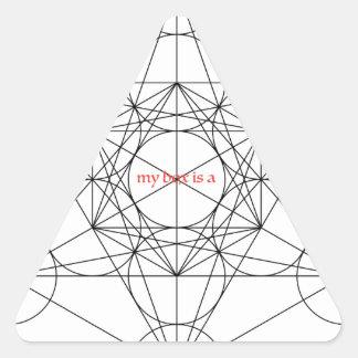 Adesivo Triangular minha caixa é… O cubo de Metatron