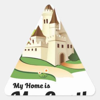 Adesivo Triangular minha casa meu castelo