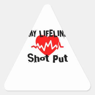 Adesivo Triangular Minha linha de vida tiro psto ostenta o design