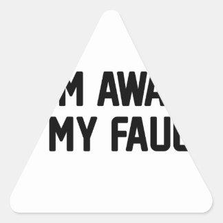 Adesivo Triangular Minhas falhas