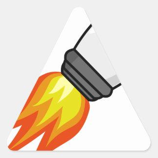 Adesivo Triangular Míssil de Rocket