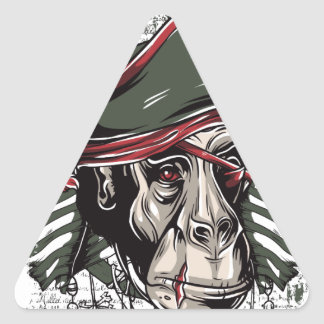 Adesivo Triangular monkey o design bonito do pirata