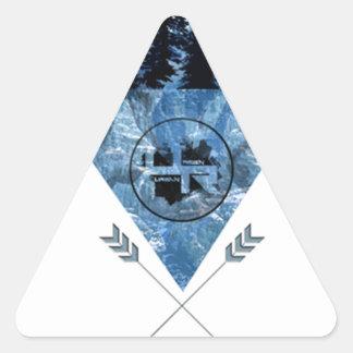 Adesivo Triangular Montanha