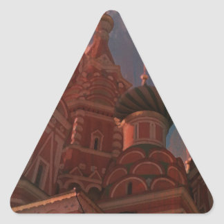 Adesivo Triangular Moscow_russia