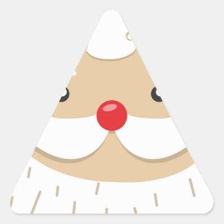 Adesivo Triangular Motivo do Natal de Papai Noel