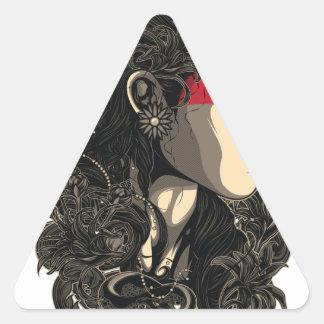 Adesivo Triangular Mulher da ascensão Sun