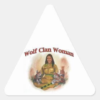 Adesivo Triangular Mulher do clã do lobo
