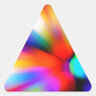 Adesivo Triangular Multi luzes borradas da cor