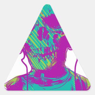 Adesivo Triangular Música do zombi