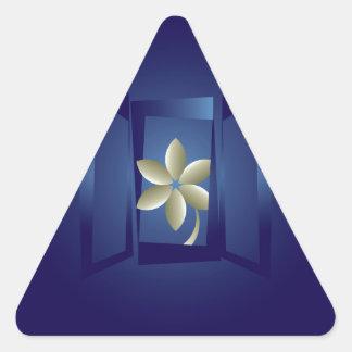 Adesivo Triangular na janela