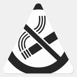 Adesivo Triangular Não fumadores
