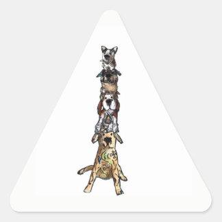 Adesivo Triangular Não há nenhuma coisa como cães demais