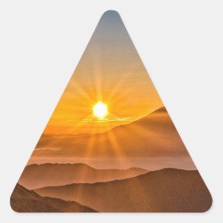 Adesivo Triangular Nascer do sol