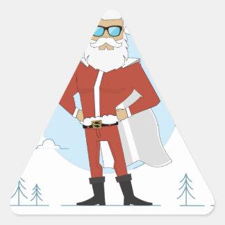 Adesivo Triangular Natal de Papai Noel