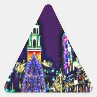 Adesivo Triangular Natal na cidade