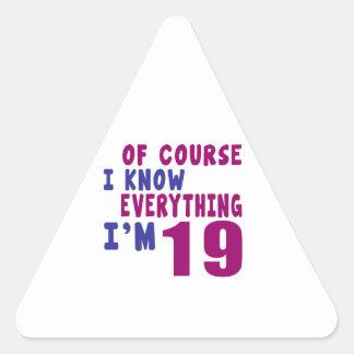Adesivo Triangular Naturalmente eu sei que tudo eu sou 19