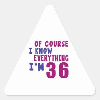 Adesivo Triangular Naturalmente eu sei que tudo eu sou 36