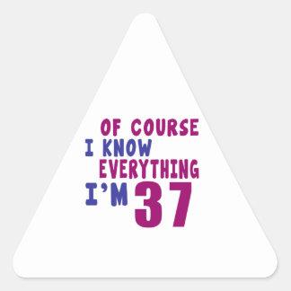 Adesivo Triangular Naturalmente eu sei que tudo eu sou 37